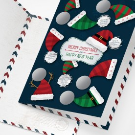 Festive Scratch Postcard with 9 Christmas Challenges