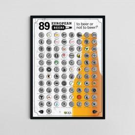 Scratch poster 89 EUROPEAN BEERS